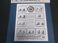 VINTAGE 1981 HP HIGH PERF MODEL PLANE BOAT CAR ENGINE LITERATURE AUSTRIA VG-COND