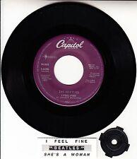 "BEATLES I Feel Fine & She's A Woman RARE! 45 rpm 7"" VINYL RECORD BRAND NEW"