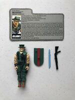 GI Joe 1988 Muskrat v1 Swamp Fighter Hasbro Action Figure Complete w/File Card