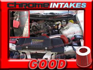 RED 98-02 CHEVY CAMARO/PONTIAC FIREBIRD 3.8 3.8L V6 FULL COLD AIR INTAKE KIT