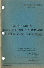 PILOT'S NOTES: KITTYHAWK I/ALLIED FIGHTER (30 Pages)+FREE 2-10 PAGE INFO PACK