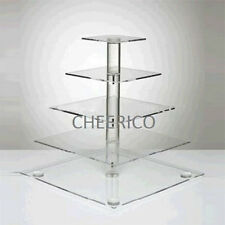 5 Tier Square Pole Acrylic Cupcake Stand Cup Cake Tower Tree Cupcake Display