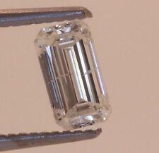 Clarity Enhanced emerald cut loose diamond 1.03ct I1 H 4.17 X 7.63 X 3.16 mm