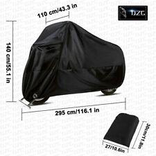Motorcycle Cover Black 4XL Waterproof Heavy Duty For Winter Storage Snow Rain