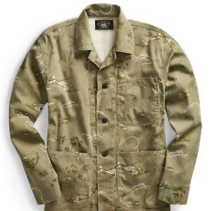 Double Ralph Lauren RRL Herringbone Twill Military 1940 Bomber Work Chore Jacket