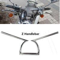 "1"" Universel Moto Guidon Z Style Chrome Drag Bar Pour Honda Harley Yamaha ATV"