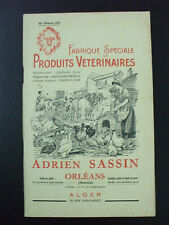 catalogue fabrique produits veterinaires sassin orleans alger 1955 96 pages