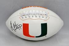 Warren Sapp Autographed Hurricanes Logo Football- JSA Witnessed Auth