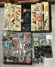 Vintage Fishing Tackle Box Full Old / New Lures Mixed Lot