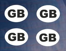 4 x Small GB Car/Van/Truck/Lorry/Motorcycle Printed Self Adhesive Stickers