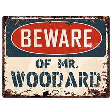 PBMR0696 Beware of MR. WOODARD Chic Plate Sign Home Decor Funny Gift Ideas