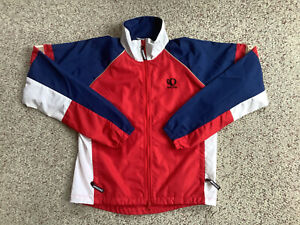 Pearl Izumi Zephrr red white blue cycling jacket mens small