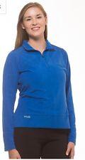 PING light-weight womens quarter zip fleece pullover Blue medium