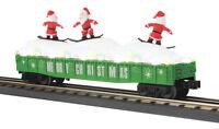 MTH 30-72195 Christmas Gondola Car w/LED Christmas Lights & Sking Santas