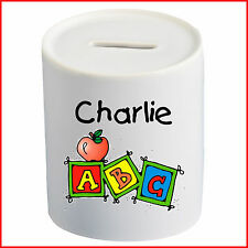 Personalised Children Saving Money Box Any Name Piggy Bank Fund Kids Party Gift