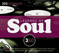 LEGENDS OF SOUL ~ NEW AND SEALED 3CD BOX SET 60 SOUL HITS OF THE 60s 70s 80s ETC