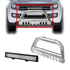 "3"" S/S Volkswagen Amarok Nudge Bar 10-14 Grille Guard + 17"" 108W Cree Led Light"