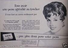 PUBLICITÉ 1956 PURETÉ DU SAVON LUX AVEC BRIGITE BARDOT - ADVERTISING