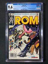 Rom #18 CGC 9.6 (1981) - Newsstand Edition - X-Men & Wolverine app