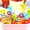 10PCS Lovely Cute Animal Food Fruit Picks Forks Lunch Box Accessory Decor Tool