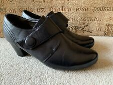 PAVERS BLACK HIGH HEEL SHOES SIZE UK 6 EUR 39 IN NICE CONDITION