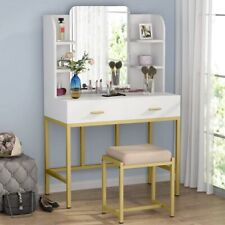 Vanity Table Set With Stool