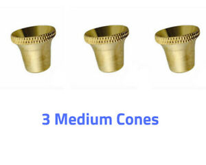 3x MEDIUM Size Bonza Bucket Brass Cone Piece Billy accessories