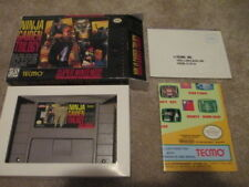 Ninja Gaiden Trilogy (Super Nintendo SNES) Authentic game, custom box