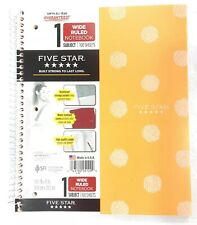 Cute 1 Subject Notebook 100 Sheets Wide Ruled Pockets Mead Five Star Orange