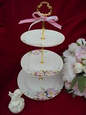 AZALEA NORITAKE ANTIQUE China Wedding Cake Stand 3 Tier Serving Tray Floral