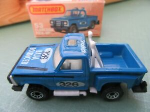 Matchbox1-75 Mint No.53D - Flareside pick-Up.  Blue / white / black