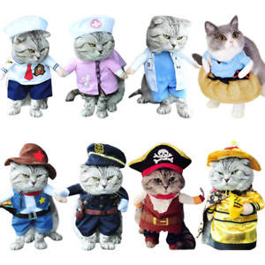 New Dog Cat Pet Funny Costume 8 Styles Cosplay Party Fancy Christmas Cloth Suite