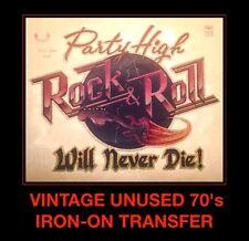 LAST1! 70's Rock Roll High School Vape Fender Guitar Party VTG t-shirt iron-on