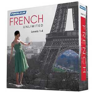 NEW Pimsleur Unlimited FRENCH Language Level 1 2 3 4 Course 120 Lessons