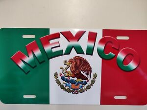 MEXICO Metal  License Plate Cover with Design