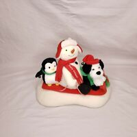 Hallmark Jingle Pals 2007 Sleigh Ride Animated Snowman Dog Penguin On Sleigh