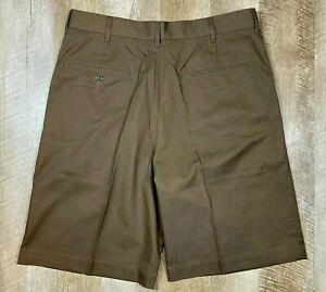 TWINHILL Uniform Brown Short Pants Mens sz 36 Long Inseam 340-0008-201