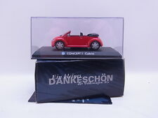 LOT 40668 | VW Beetle Cabrio Concept 1 rot Werbewagen 1:43 Modellauto Neu in OVP