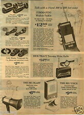 1964 PAPER AD Toy Dick Tracy Wrist Radio Commando Walkie Talkie Child's Organ