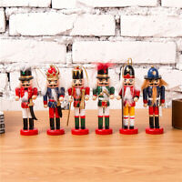 MagiDeal 6x Nutcracker Soldiers Wooden Handpainted Christmas Decor Ornaments