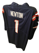 New England Patriots Cam Newton Stitched Jersey white/Navy Blue US L