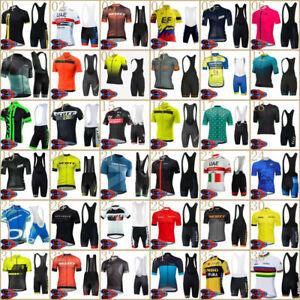 MTB Road Cycling Jersey Set Mens Bib Shorts Kits Short Shirt Pants Suits Outfits