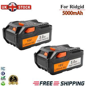 2X 18V Battery For AEG 5.0Ah Lithium Ion M1830R L1815R B1817G Ridgid R840091 New