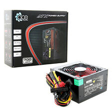 ACE 700W Black ATX Gaming PC PSU Power Supply 120mm Red