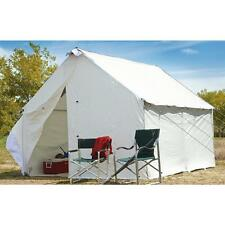 12 X 10 Canvas Wall Tent Complete Bundle w/ Floor & Frame Camp Cabin, Large