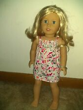 2014 American Girl Doll Blonde Blue Eyes and dress