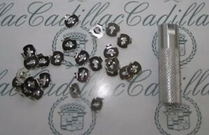1936-1990 Cadillac Molding, Emblem, Ornament, Mounting Clips with Tool
