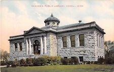 Michigan postcard Howell Carnegie Public Library