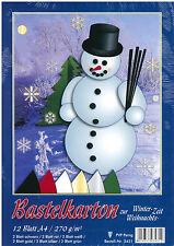 Bastelpapier Bastelkarton Weihnachtspapier Winter Weihnachten Papier Karton A4