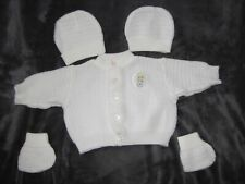 Precious Moments Infant Gift Set Sweater Booties Cap Hat 2001 0-3 Reborn Doll